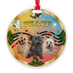 XmasMusic 3/3 Cairns Round Ornament