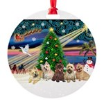 XmasMagic/ 5 Cairns Round Ornament