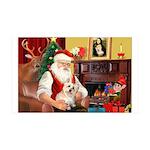 Santa's Cairn Terrier 35x21 Wall Decal
