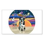 XAngel-CatahoulaLeopardDog Sticker (Rectangle 10 p
