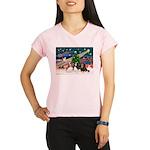 XmasMagic/ 3 Cavaliers Performance Dry T-Shirt
