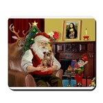 Santa's Chihuahua Mousepad