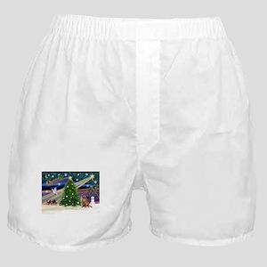 XmasMagic/Chihuahua Boxer Shorts