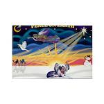 XmasSunrise-Chinese Crested 9ld Rectangle Magnet (