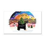XMusic2-Puff Crested (tri) Rectangle Car Magnet
