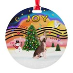 XMusic2-HL Chinese Crested Round Ornament