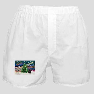 XmasMagic/sharpei (blk) Boxer Shorts