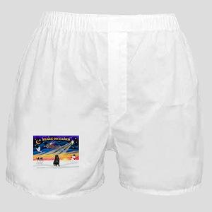 XmasSunrise/Sharpei (blk) Boxer Shorts