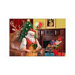 Santa's Shar Pei 35x21 Wall Decal