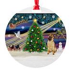 XmasMagic/ Shar Pei Round Ornament