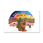 XMusic2-Chow Chow Rectangle Car Magnet
