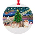 XmasMagic/ 2 Chow Round Ornament