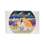 XmasAngel-ClumberSpaniel Rectangle Magnet (10 pack