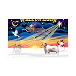 Xmas Sunrise - Clumber Spaniel 35x21 Wall Deca