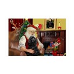 Santa's Cocker (blk) 35x21 Wall Decal