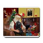 Santa's Cocker (blk) Mousepad
