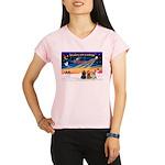 XmasSunrise/3 Cockers Performance Dry T-Shirt