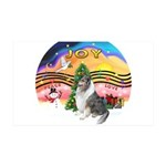 XMusic2-BlueM Collie 35x21 Wall Decal