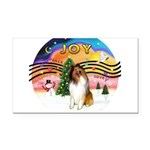 XMusic2-Collie (sw) Rectangle Car Magnet