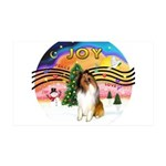 XMusic2-Collie (sw) 35x21 Wall Decal