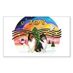 XMusic2-Two Collies Sticker (Rectangle 10 pk)