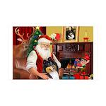 Santa's Collie (tri) 35x21 Wall Decal