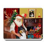 Santa's Collie (tri) Mousepad