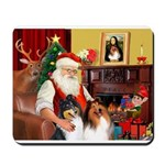 Santa's 2 Collies Mousepad