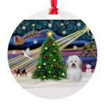 XmasMagic/ Coton Round Ornament