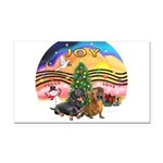 XMusic2-Two Dachshunds Rectangle Car Magnet