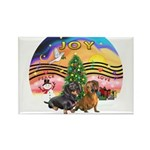 XMusic2-Two Dachshunds Rectangle Magnet (10 pack)