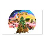 XMusic2-Two brown Dachshunds Sticker (Rectangle 10
