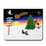 XmasSigns/2 Dachshunds Mousepad
