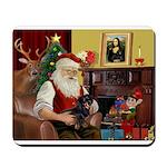 Santa/Dachsund (#1) Mousepad
