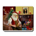 Santa/Brown Dacshund Mousepad
