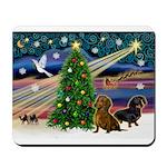 Santa/Two Dachshunds (BB-P2) Mousepad