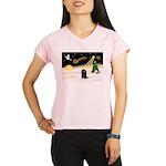 Night Flight/Dachshund Lh Performance Dry T-Shirt