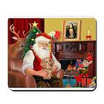 Santa's Dachshund (WH) Mousepad