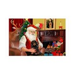 Santa's Dachshud (LH) 35x21 Wall Decal