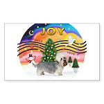 XMusic2-Dandi Dinmont (slate) Sticker (Rectangle 1