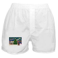 XmasMagic/Dobie (red) Boxer Shorts