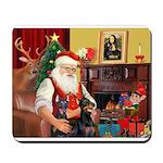 Santa's 2 Dobies Mousepad
