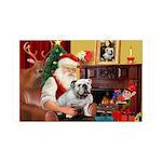 Santa's English Bulldog 35x21 Wall Decal