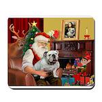 Santa's English Bulldog Mousepad