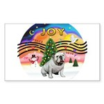 XMusic2-English Bulldog (W) Sticker (Rectangle 10
