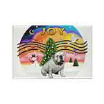 XMusic2-English Bulldog (W) Rectangle Magnet (10 p