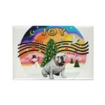 XMusic2-English Bulldog (W) Rectangle Magnet