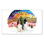 XMusic2-Two Springer Spaniels Sticker (Rectangle 1