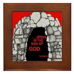 1 John 5:5 Framed Tile