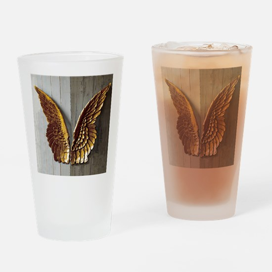 Gold Angel Wings 1 Drinking Glass